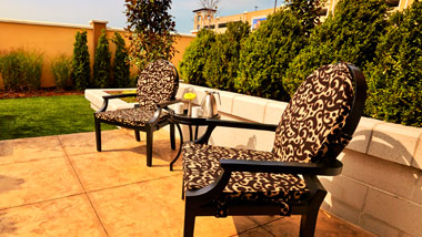 patio chairs at River City Casino
