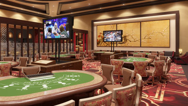 baccarat room at River City Casino